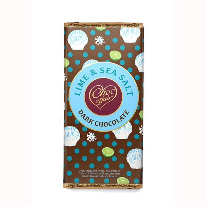 Choc Affair Lime & Sea Salt Dark Chocolate Bar 90g