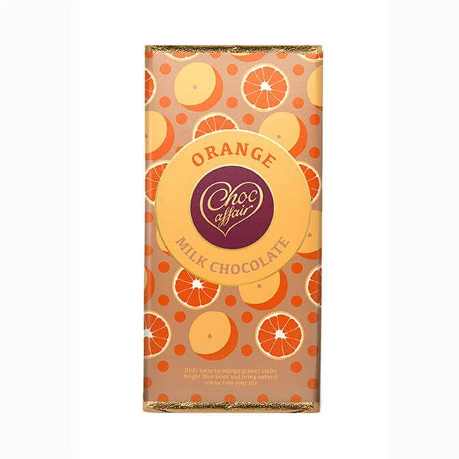 Choc Affair Orange Milk Chocolate Bar 90g