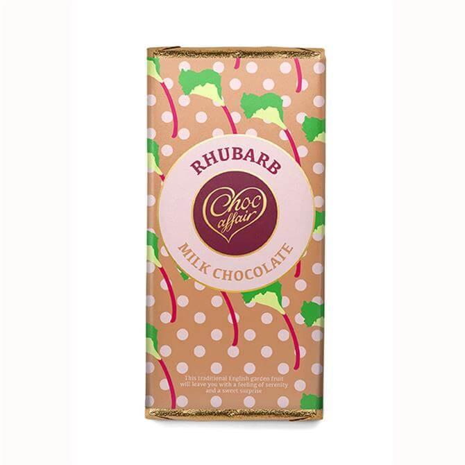 Choc Affair Rhubarb Milk Chocolate Bar 90g