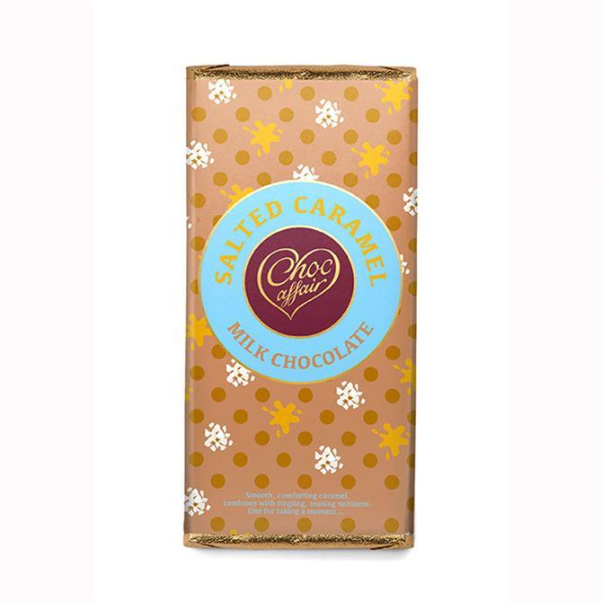 Choc Affair Salted Caramel Milk Chocolate Bar 90g