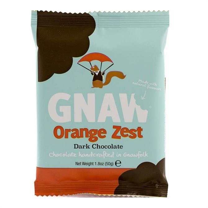 Gnaw Orange Zest Dark Chocolate Mini Bar 50g