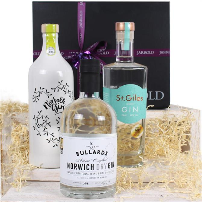 A Trio Of Norfolk Gins Gift Box