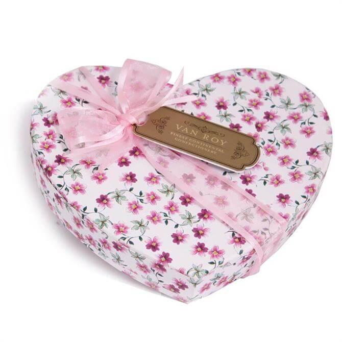 Van Roy March De Champagne Truffles: Floral Heart Box