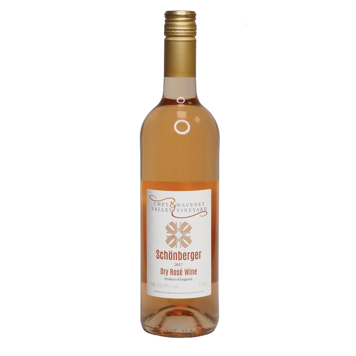 An image of Chet & Waveney Valley Vineyard Schönberger Dry Rosé