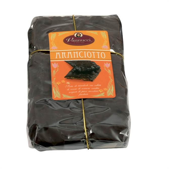 Vanucci Aranciotto Candied Orange Dark Chocolate Bar