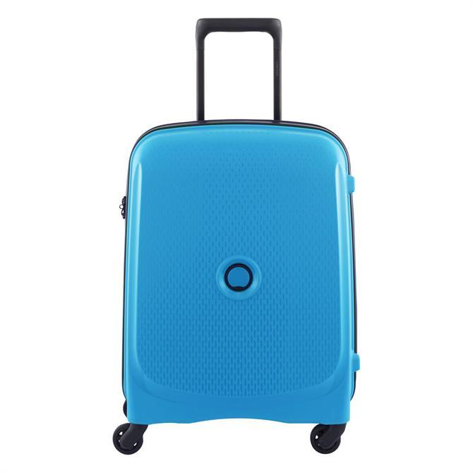 Delsey Belmont 4 Wheel Cabin Trolley Case- Metalic Blue