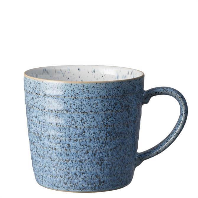 Denby Studio Blue Flint/Cobalt Ridged Mug