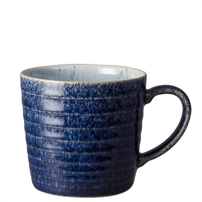 Denby Studio Blue Cobalt/Pebble Ridged Mug