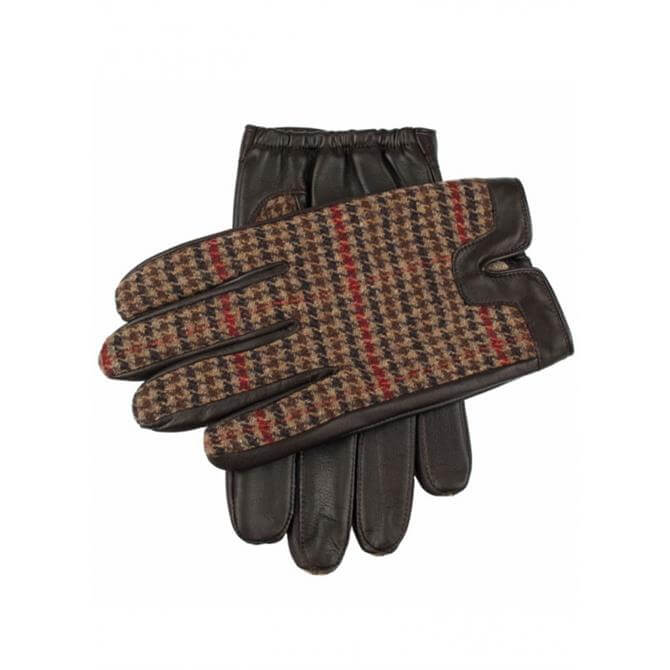 Dents Mens Lichfield Fabric Back Hairsheep Leather Gloves