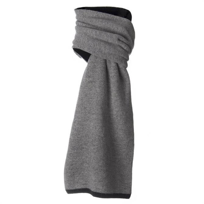 Dents Lambswool Blend Double Sided Contrast Scarf