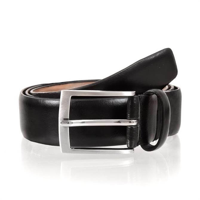 Dents Leather Belt with Buckle