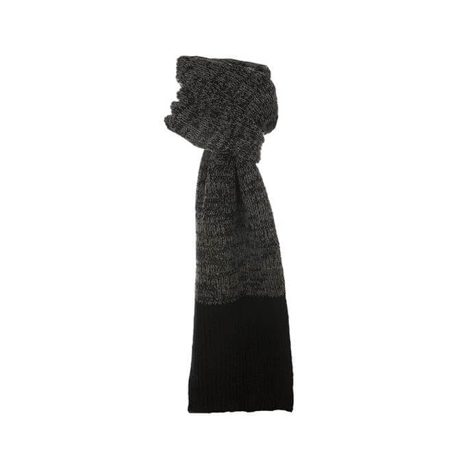 Dents Men's Wool Blend Block Colour Marl Knit Scarf