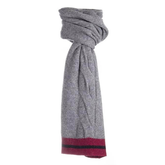 Dents Men's Wool Blend Cable Knit Scarf