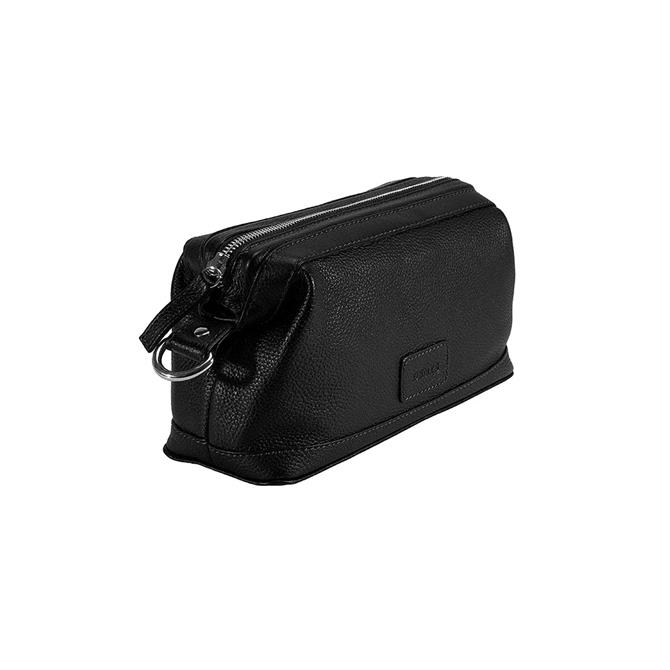 Dents Pebble Grain Leather Zip Close Wash Bag