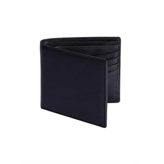 Dents Smooth Black Leather Wallet with RFID
