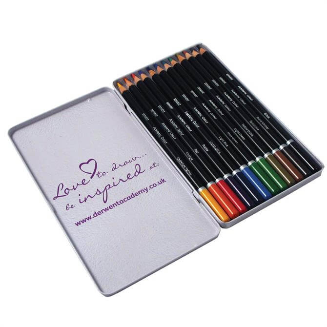 Derwent Academy 12 Colour Pencil Tin