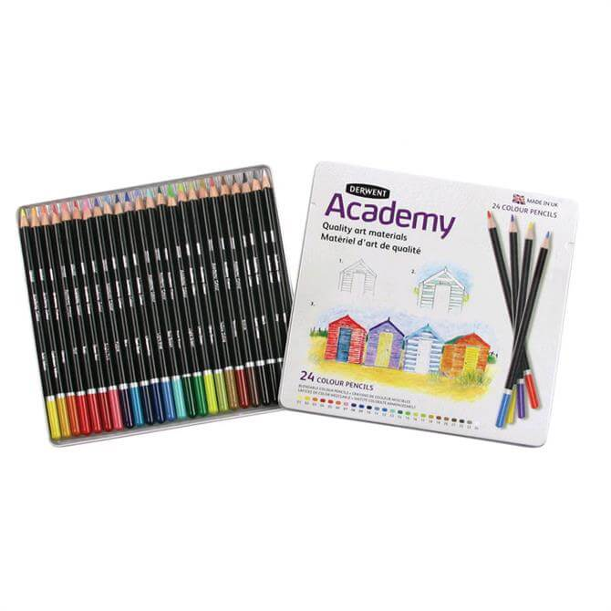 Derwent Academy 24 Colour Pencil Tin