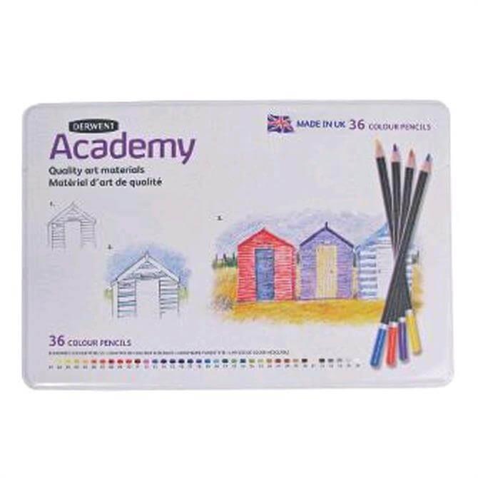 Derwent Academy 36 Colour Pencil Tin