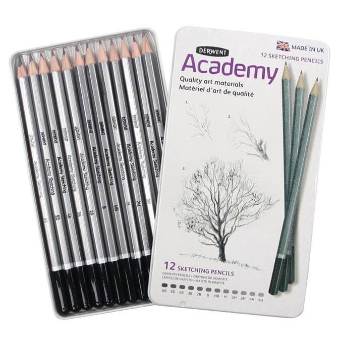 Derwent Academy 12 Sketching Pencils Tin