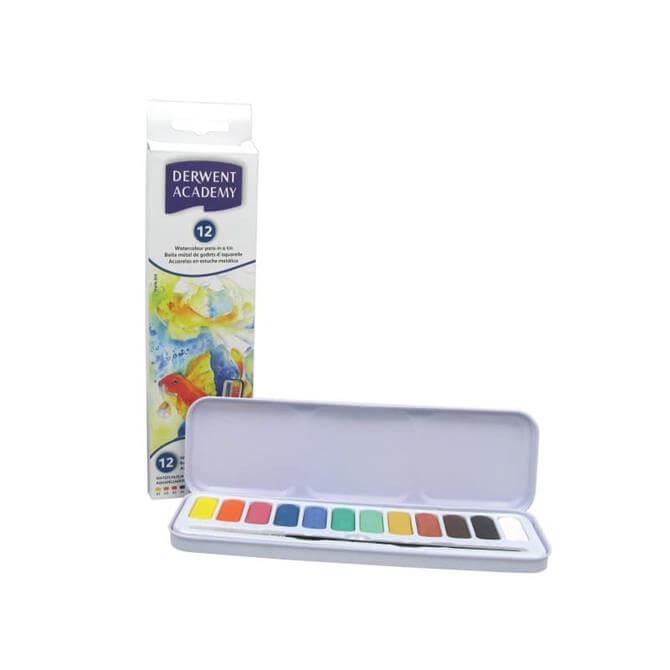 Derwent Academy Water Colour 12 Pan Set