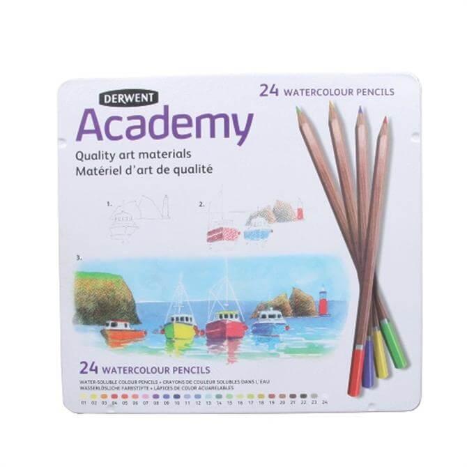 Derwent Academy 24 Watercolour Pencil Tin
