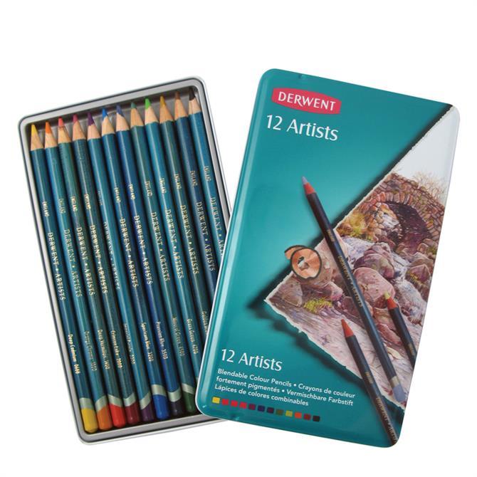 Derwent Artists Pencils 12 Tin