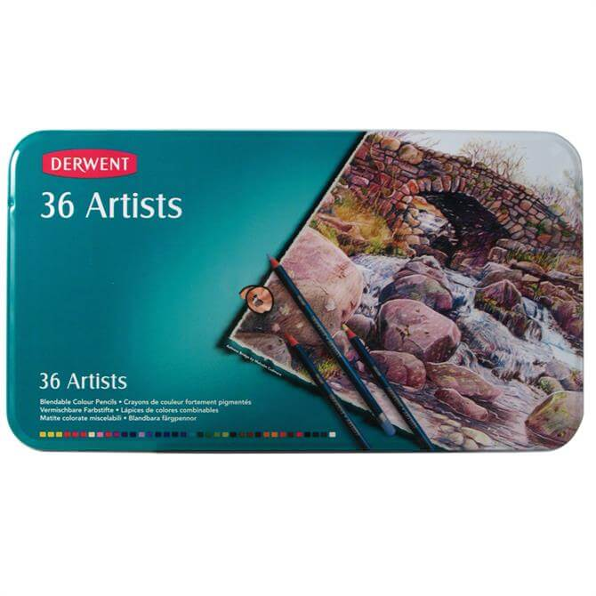 Derwent Artists Pencils 36 Tin