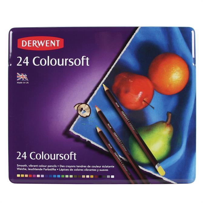 Derwent Coloursoft 24 Pencil Tin