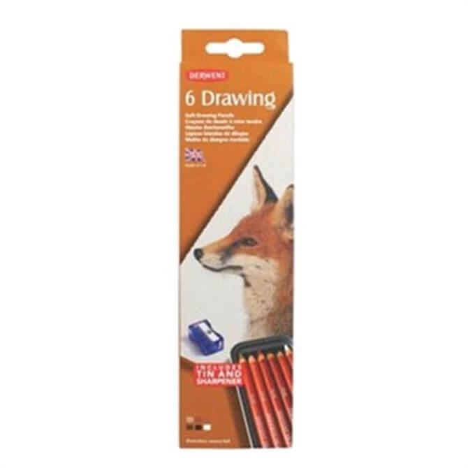 Derwent Drawing 6 Tin
