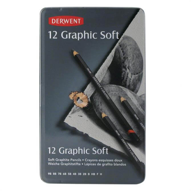 Derwent Graphic Soft 12 Pencil Tin