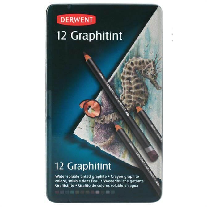 Derwent Graphitint 12 Pencil Tin