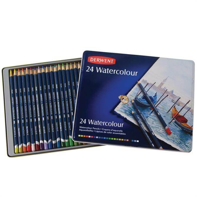 Derwent Watercolour 24 Pencil Tin