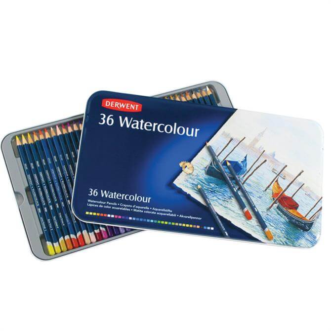 Derwent Watercolour 36 Pencil Tin