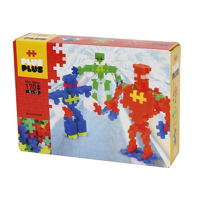 Plus Plus Mini Neon Robots 170 Pieces