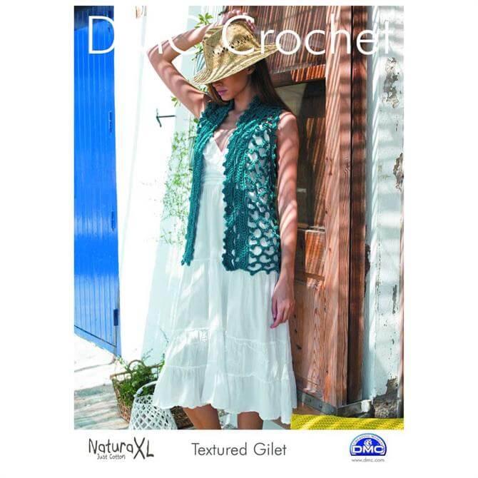 DMC Textured Gillet Crochet Pattern
