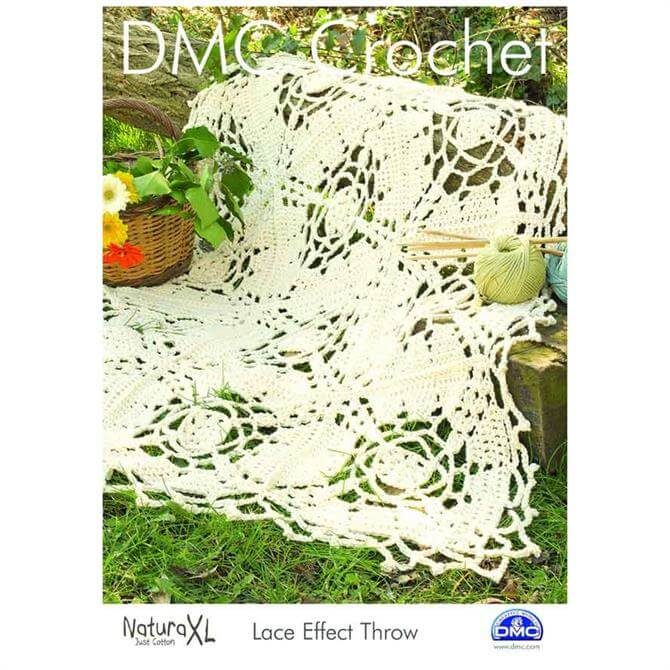DMC Lace Effect Throw Crochet Pattern