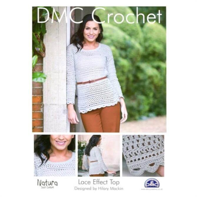 DMC Lace Effect Top Crochet Pattern