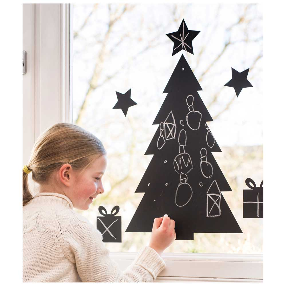 An image of Donkey Chalkboard Christmas Tree