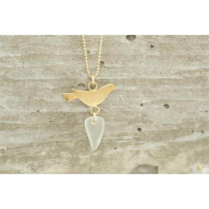 Drift Large Bird on Gold Necklace
