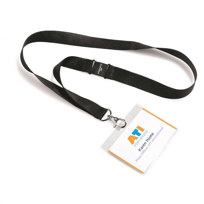 Durable Textile Lanyard with Name Badge