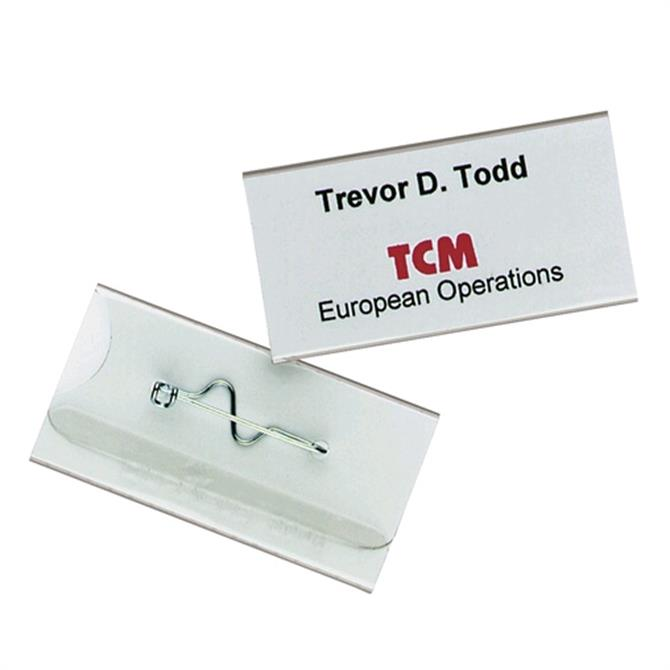 Durable Pin Name Badge - Pack of 10