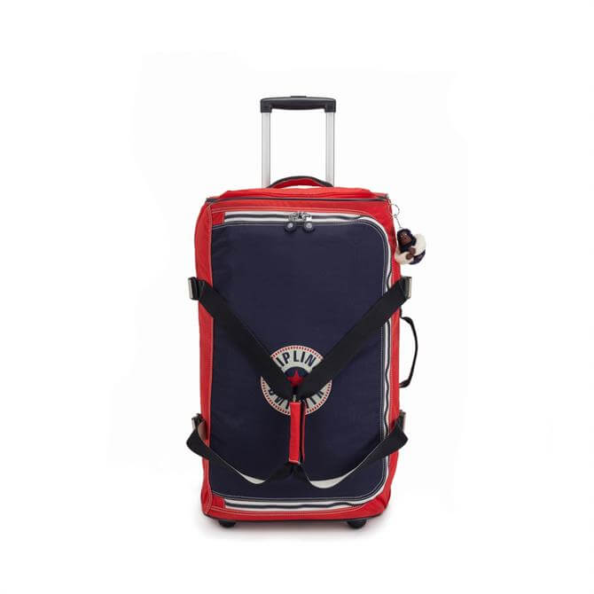 Kipling Teagan Medium Wheeled Duffle Bag - Active Red