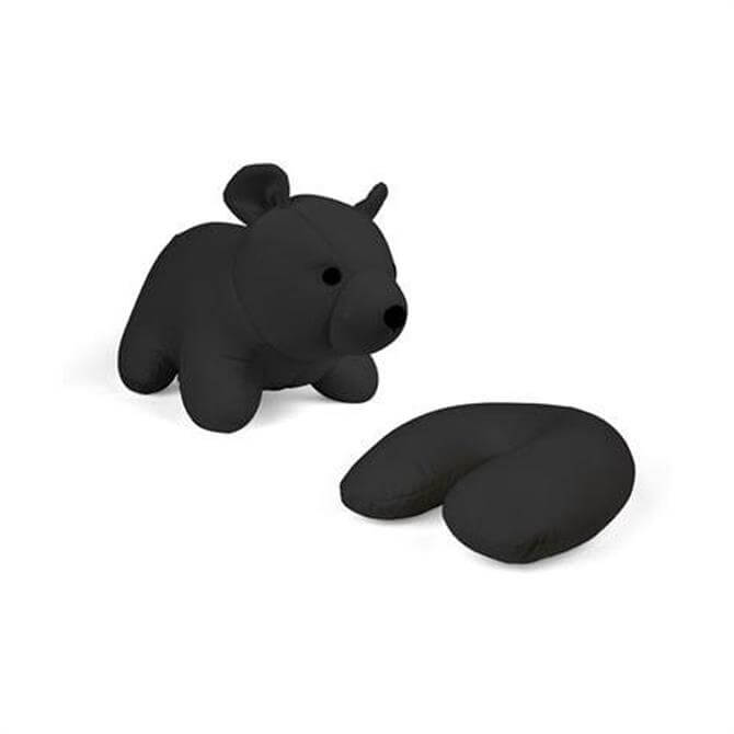 Kikkerland Zip And Flip Black Bear Neck Pillow