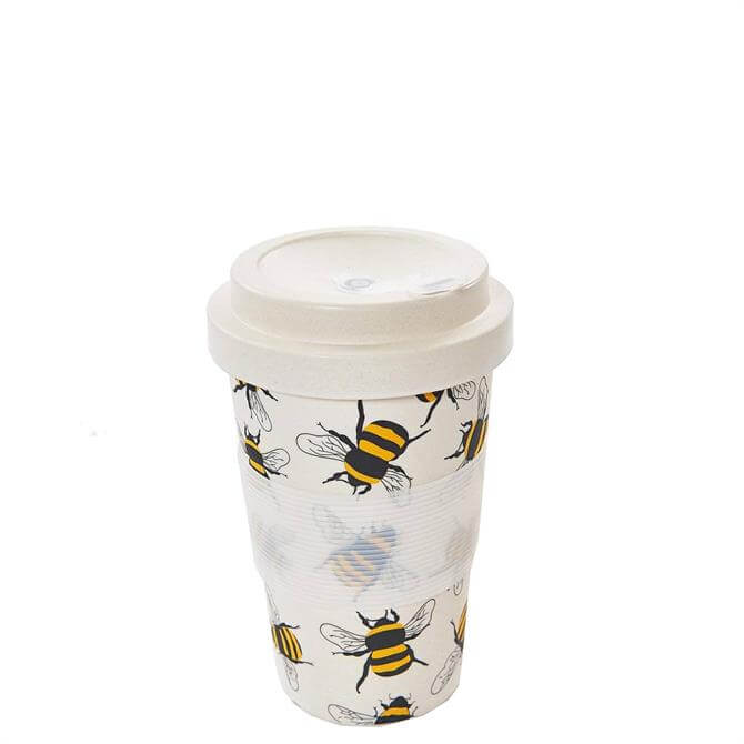Eco Chic Neutral Bees Bamboo Coffee Cup