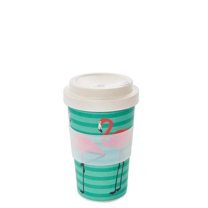 Eco Chic Green Flamingo Bamboo Coffee Cup