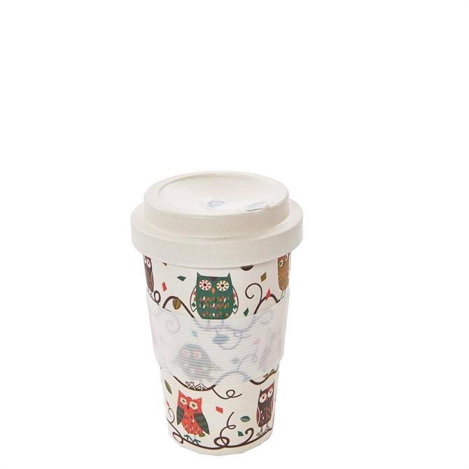 Eco Chic Owl on the Branch Bamboo Coffee Cup