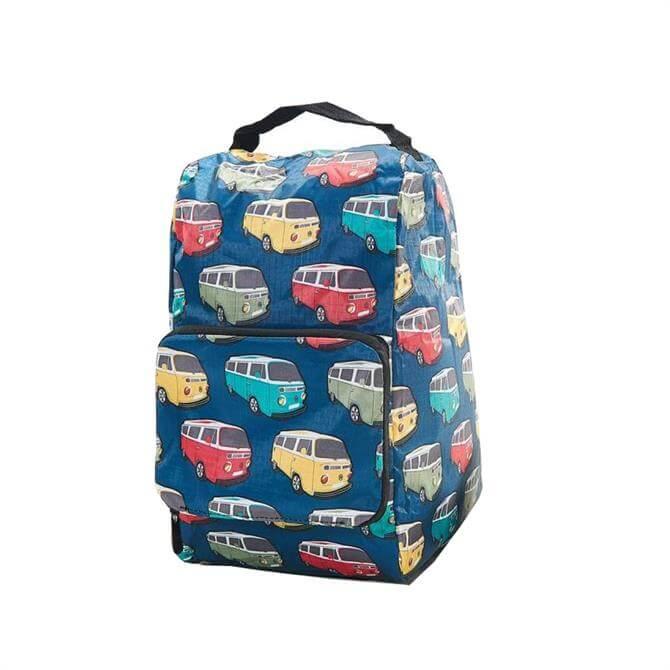 Eco Chic Foldaway Boot Bag - Teal Camper Van