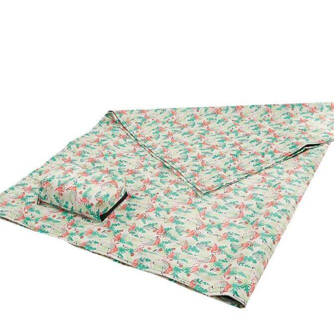 Eco Chic Foldable Picnic Blanket - Beige Flamingo