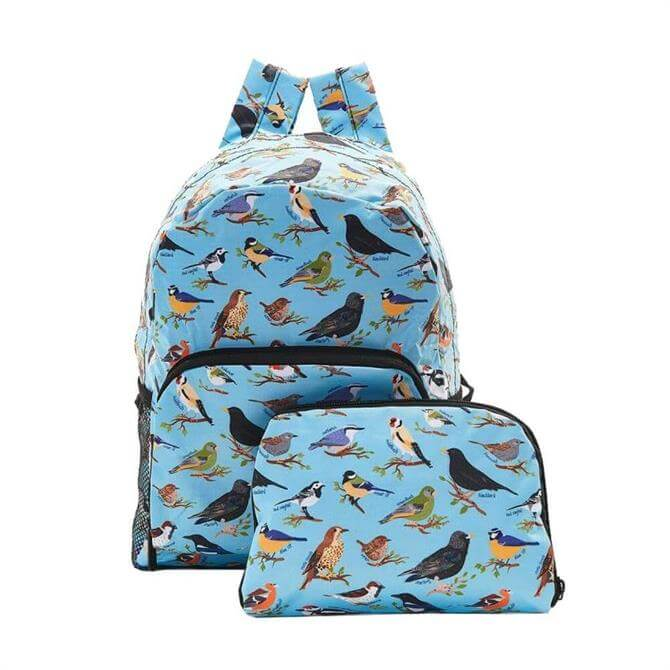 Echo Chic Foldable Backpack - Blue Birds