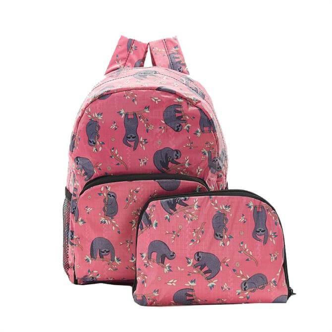 Echo Chic Foldable Mini Backpack - Fuchsia Sloth